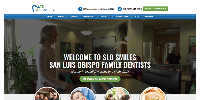 Picture of SEO for dentists in action at SLO Smiles